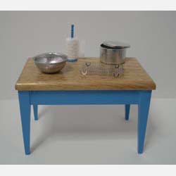 Blue Kitchen Table plus Acccssories